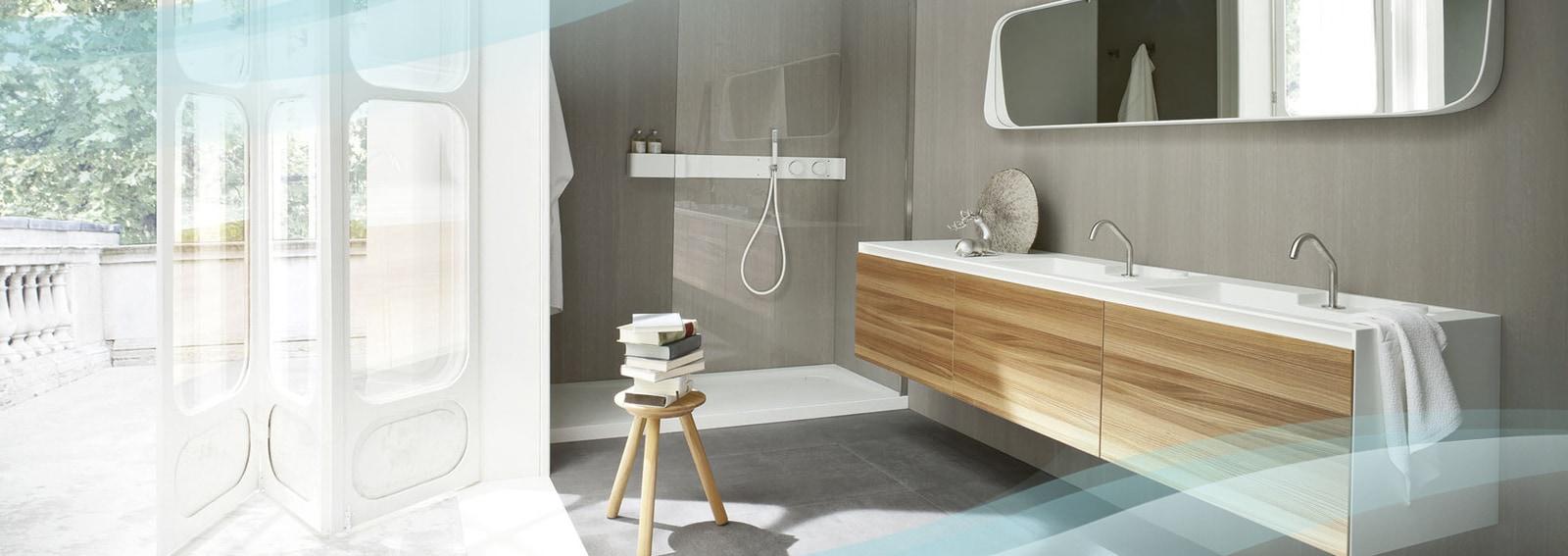 Arredare il bagno con il legno grazia for Mobili bagno design outlet