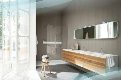 Arredare il bagno con il legno