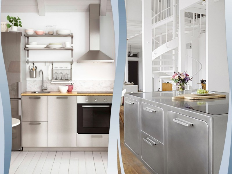 Mobili Cucina Acciaio. Great Cucine Moderne In Legno Su Misura A ...