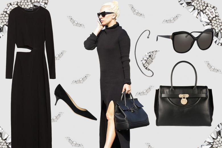 Get the look: Lady Gaga in total black