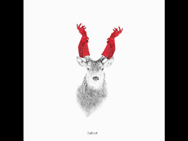 @diego_cusano: Christmas Hands Reindeer