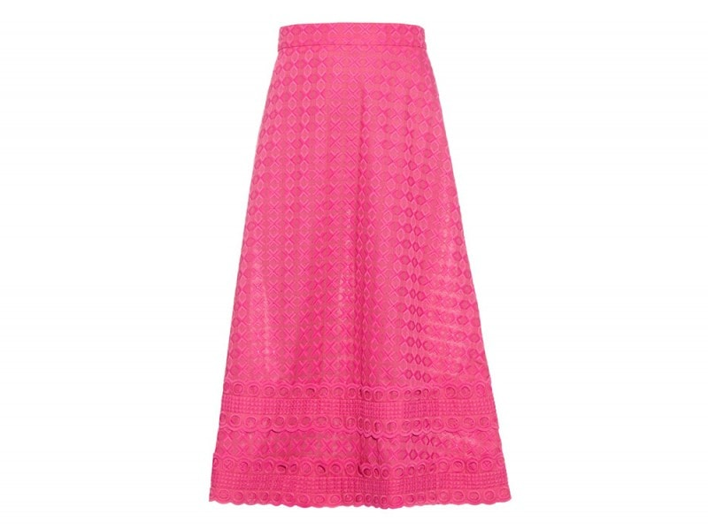 gonna midi pizzo rosa house of holland