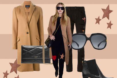 Cappotto cammello e jeans decorati come Gigi Hadid