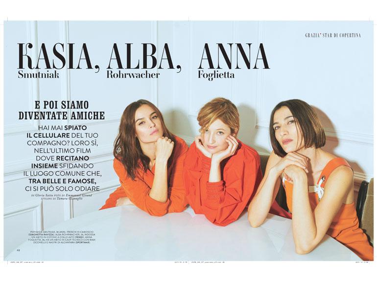 Kasia Smutniak, Alba Rohrwacher, Anna Foglietta: «E poi siamo diventate amiche»