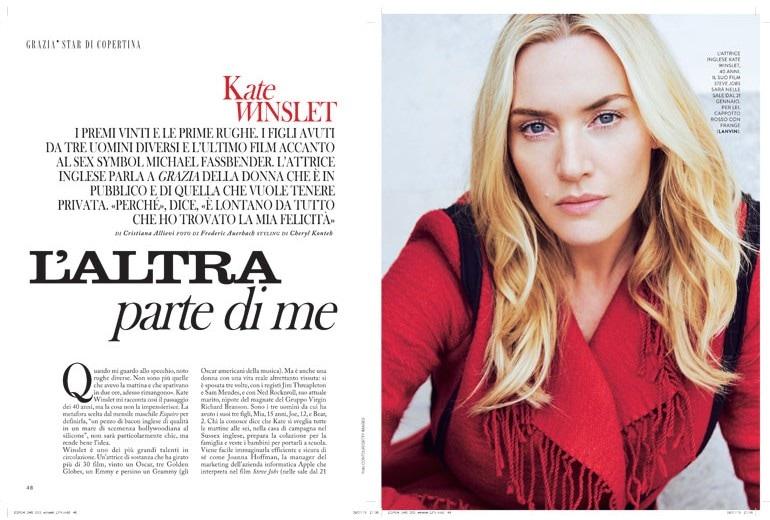 Kate Winslet: «L'altra parte di me»
