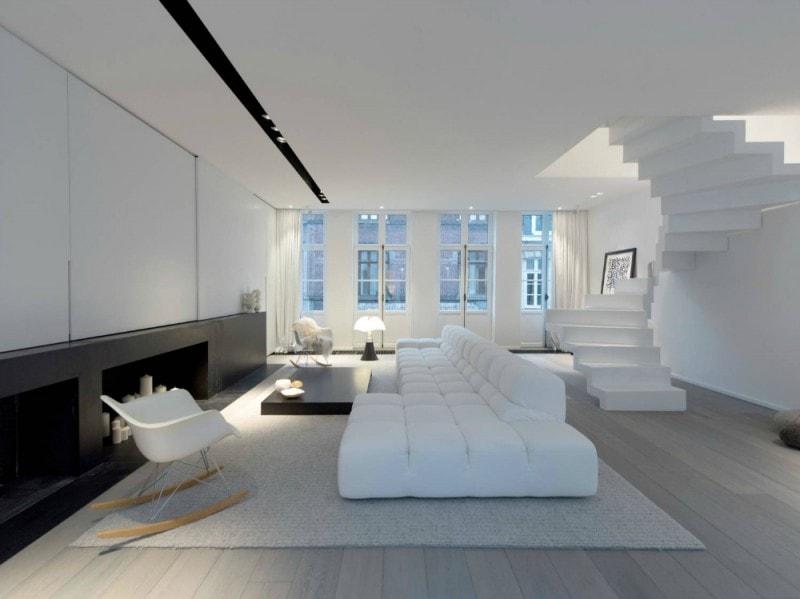 com'è la casa ideale in total white - grazia - Soggiorno Total White