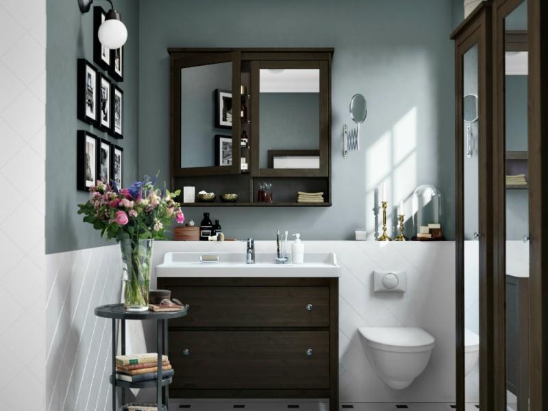 Mobili black white bathroom design catalogo ikea