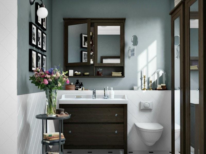 mobile bagno scuro ikea