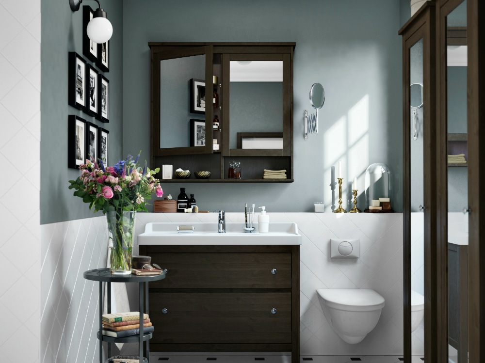 Mobile bagno scuro ikea foto grazia
