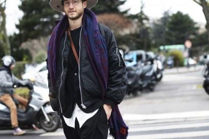 street-parigi-moda-uomo-bomber-cappello