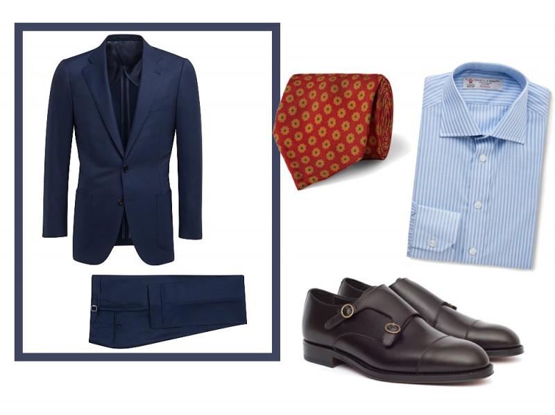 Scarpe da abbinare a abito blu uomo