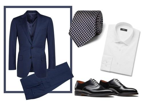Scarpe da abbinare a vestito blu uomo
