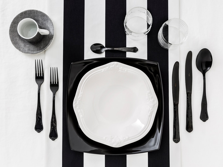 7 Dalani tavola Black and White trend Primavera