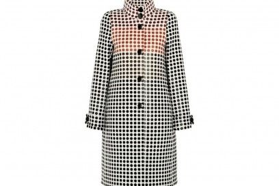 BOTTEGA VENETA Paneled polka-dot wool coat_NET