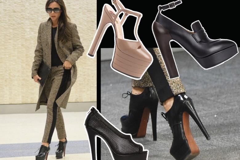 Victoria Beckham e le scarpe con il maxi plateau. Sono tornate?