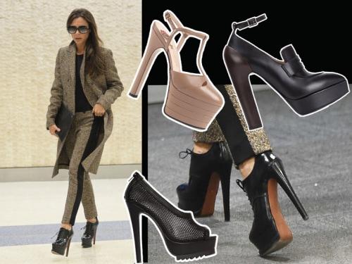 Victoria Beckham e le scarpe con il maxi plateau. Sono tornate ... 71ce2ad74ed