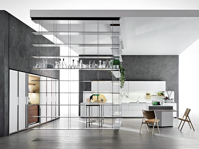 Le cucine a vista perfette per un open space grazia - Arredare sala con cucina a vista ...
