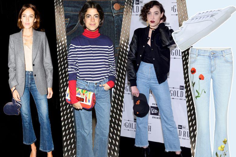 Jeans cropped & flare, le scarpe da abbinare