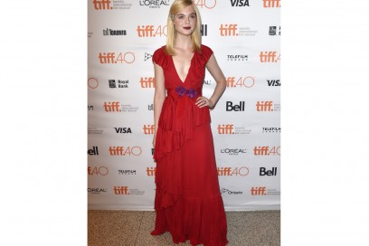 Elle Fanning in Gucci rosso