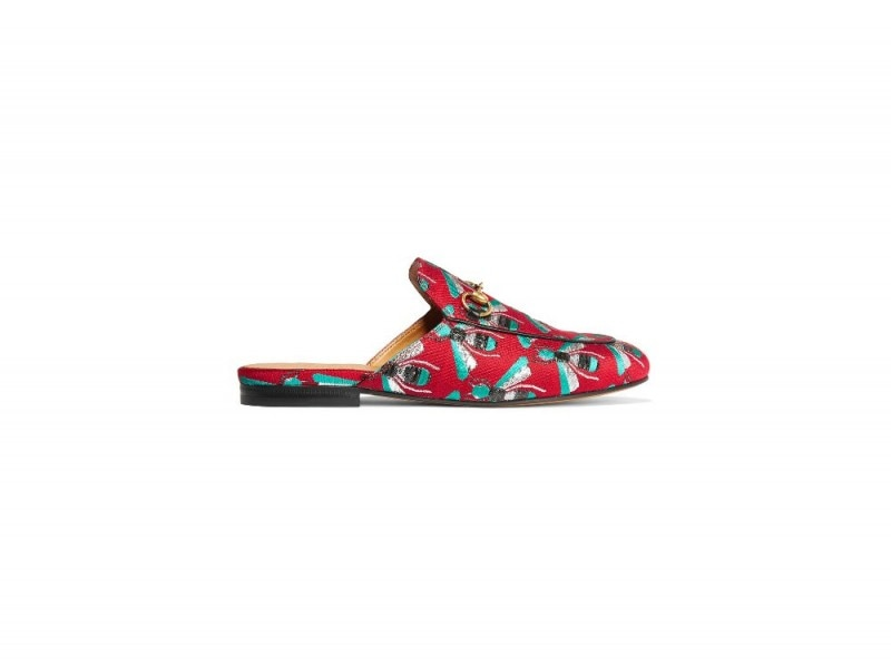 GUCCI Princetown horsebit-detailed jacquard slippers_NET