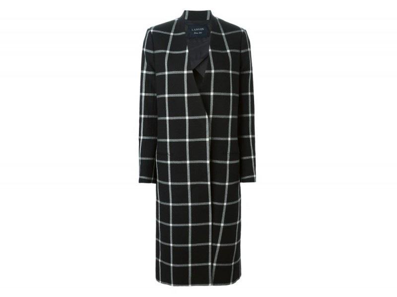 LANVIN  checked coat_FF