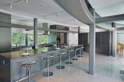 La cucina della Glass House