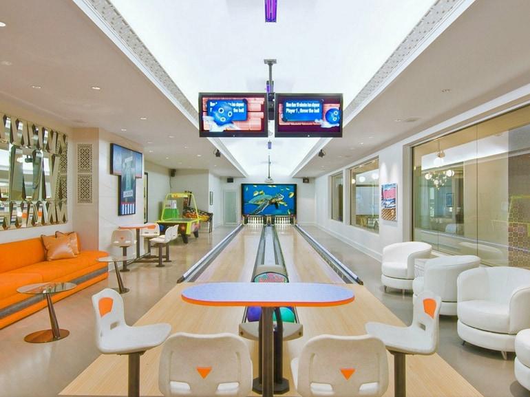 La pista da bowling