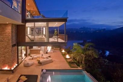 La vista dalla villa sulle colline di Beverly Hills