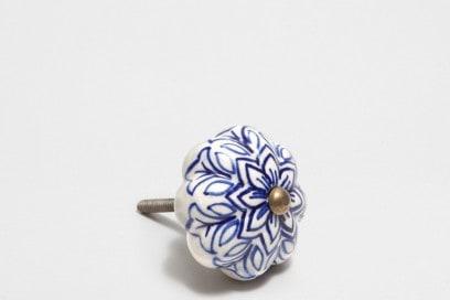 Pomello design foglie blu