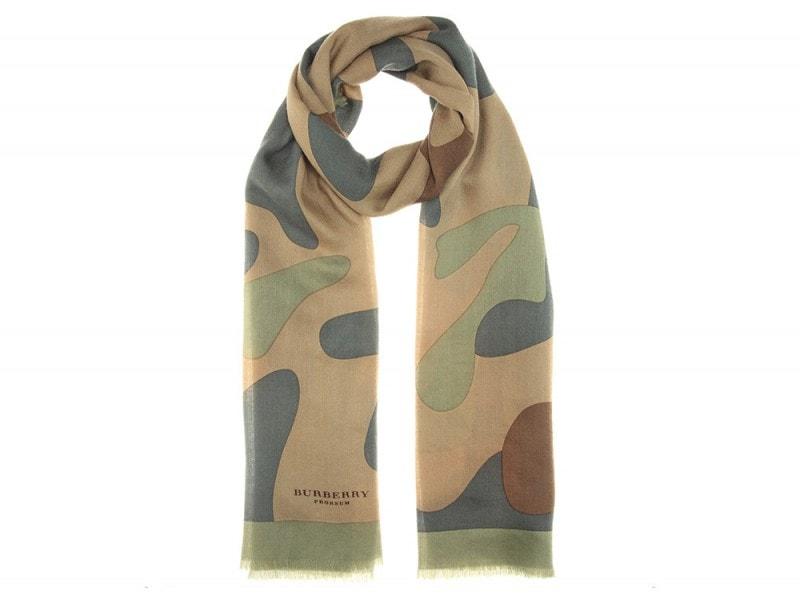 burberry prorsum sciarpa militare