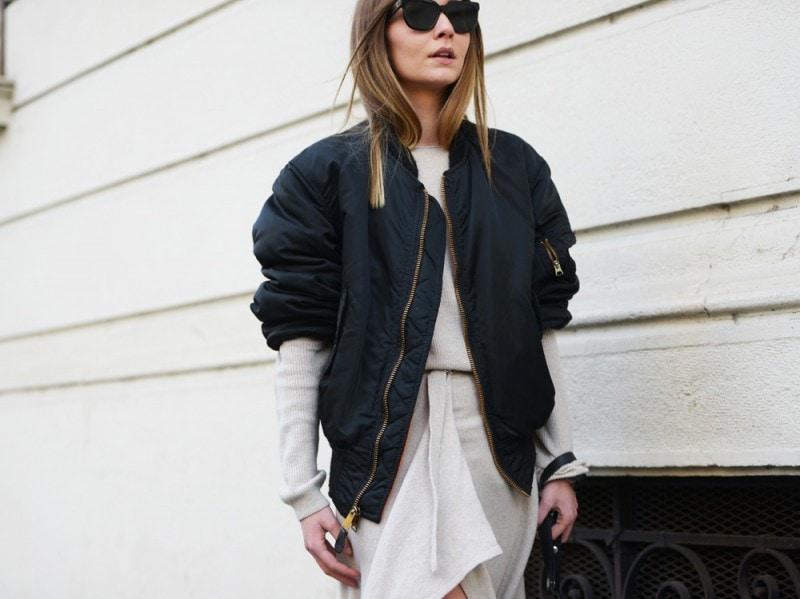 chiara-capitani-bomber-nero-Milano-Moda-Uomo-gennaio-2016-i-look-da-street-style