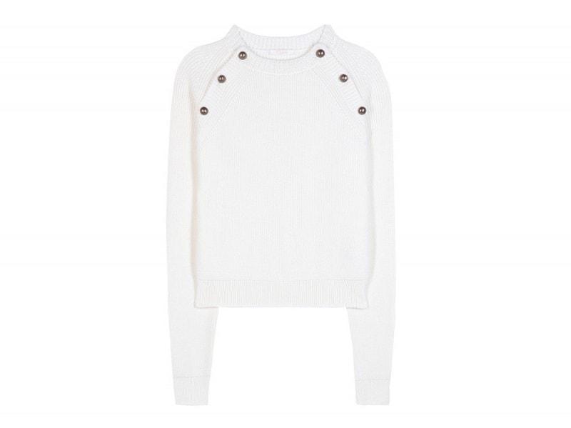 chloé maglione bianco lana