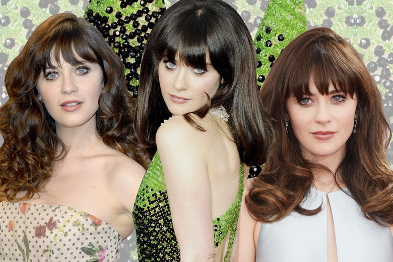 Zooey Deschanel capelli: hairstyle romantici e onde morbide