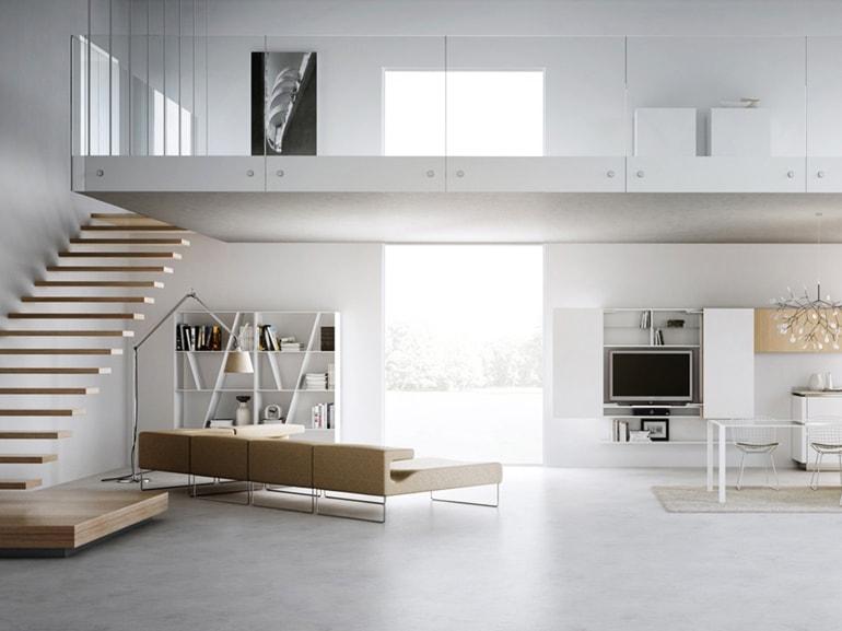 Come arredare un loft grazia - Cucina con soppalco ...