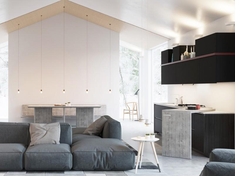Le cucine a vista perfette per un open space - Cucine open space con isola ...