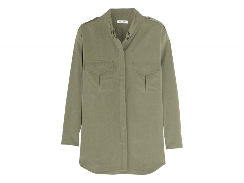 equipment camicia tasche verde