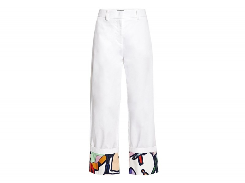 giles pantaloni bianchi risvolto