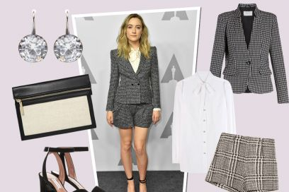 Get the look: Saoirse Ronan in tailleur corto