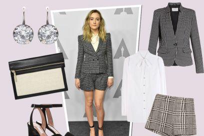 Get the look: Saoirse Ronan in tailleur corto