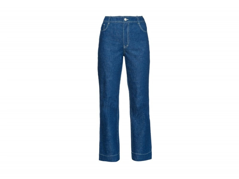 jeans flare cropped trademark