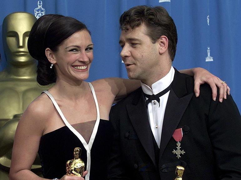 US Best Actress Julia Roberts (L) and New-Zealand-