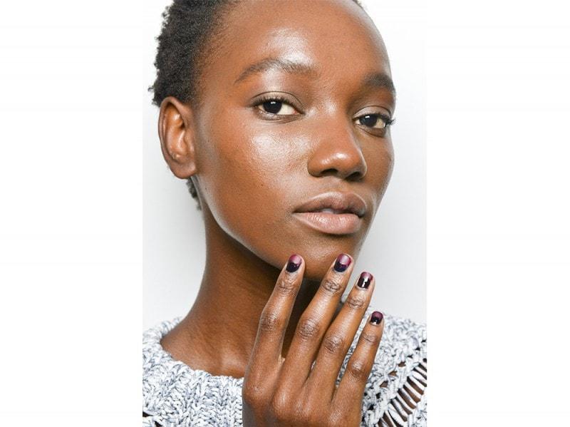 manicure bicolore  wes gordon