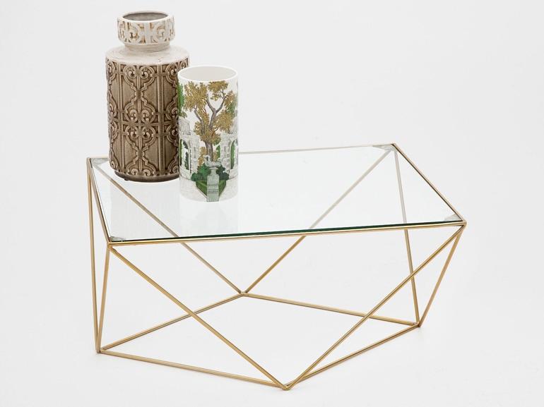tavolino centrale geometrico