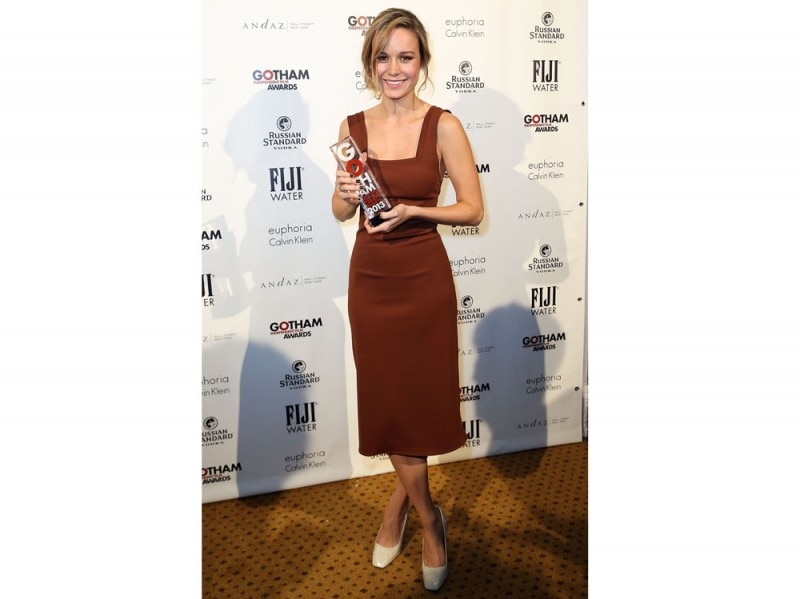 Brie Larson tubino Calvin Klein Collection Gotham Film Awards 2013