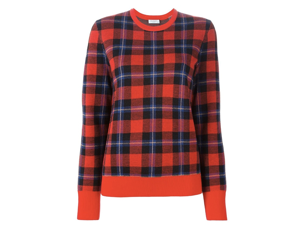 EQUIPMENT  checked sweater_FF