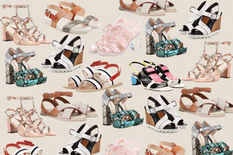 I sandali per l'estate 2016