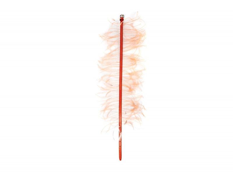 Emilio-Pucci-Orange-Feather-Belt