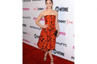 Emmy Rossum in Oscar de La Renta