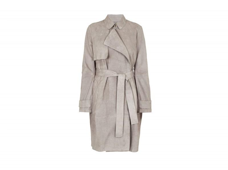 Hugo-Boss-Grey-Suede-Trench-Coat