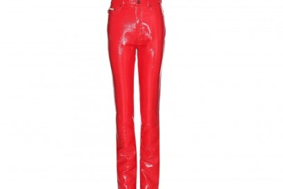 MARC JACOBS Faux patent leather trousers_mytheresa